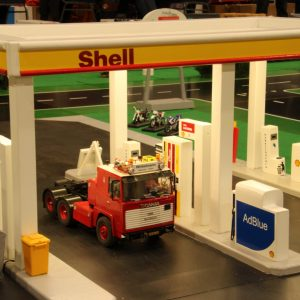 Shell tankstation en Carwash J
